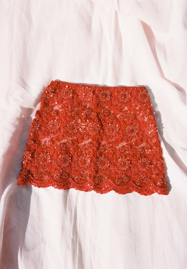 Lace No Waste Mini Skirt