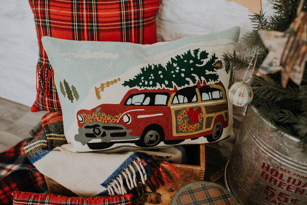 Christmas Car Pillow