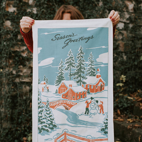 Vintage-Inspired Holiday Tea Towel