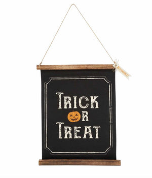 Reversible Halloween Trick or Treat Sign