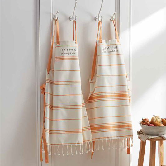 Fall Striped Apron