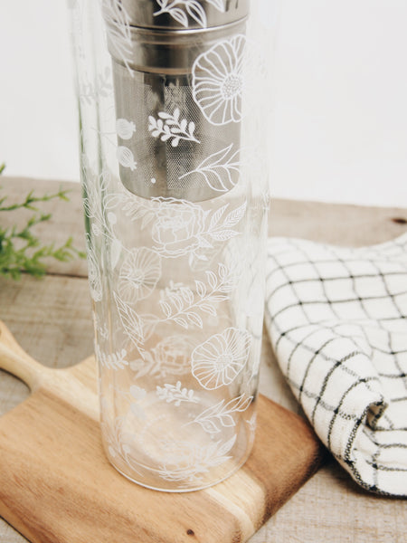 Glass Bottle With Infuser