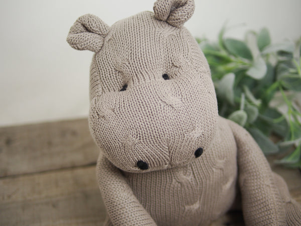 Cotton Knit Hippo