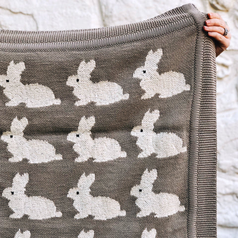 Cotton Knit Animal Blanket