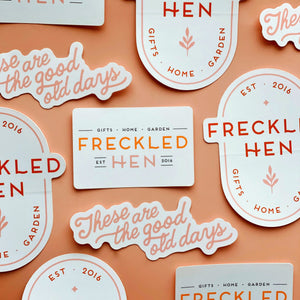Freckled Hen Sticker