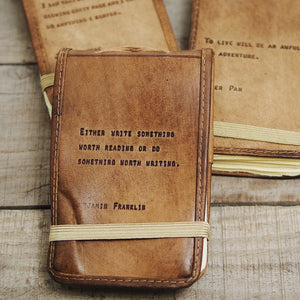 Leather Quote Notebooks