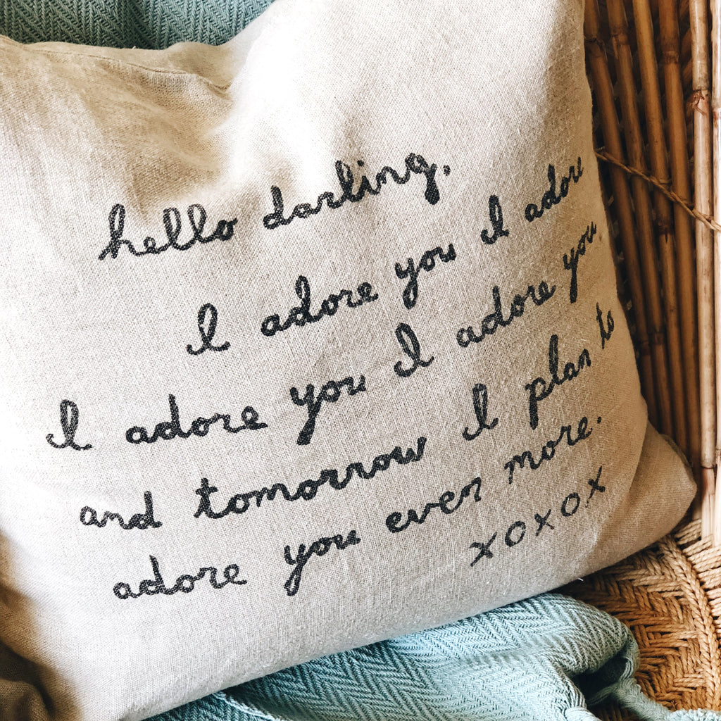 Linen Quote Pillow
