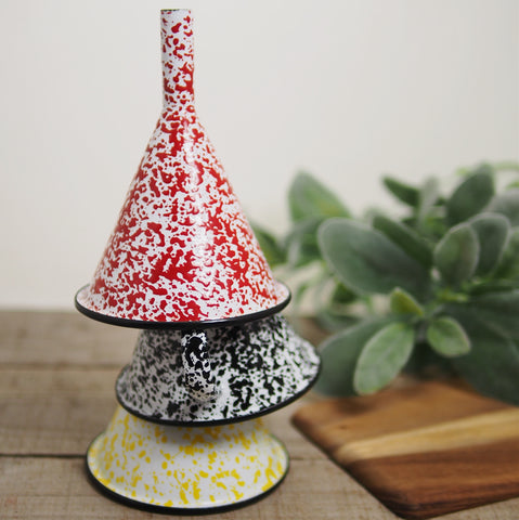 Speckled Enamelware Funnel