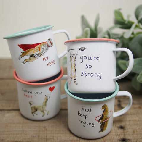 Animals Enamelware Mug