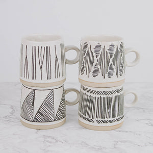 Load image into Gallery viewer, Etched Stoneware Mug