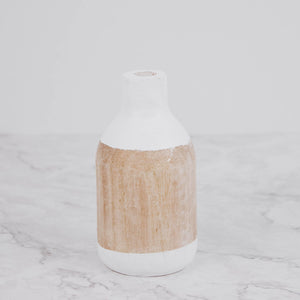 Dried Floral Wooden Vase