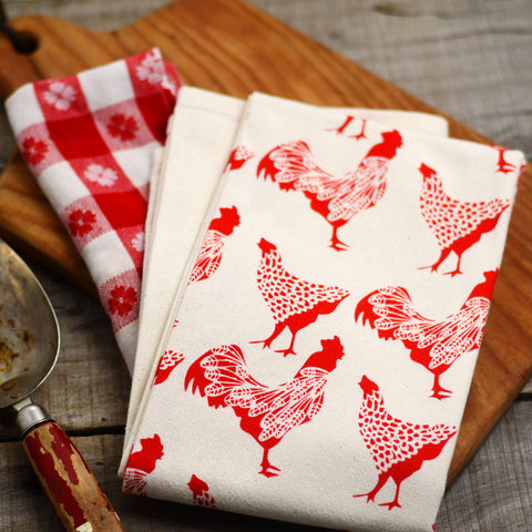 Chicken Cotton Flour Sack Towel