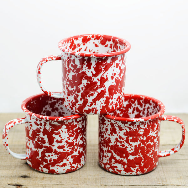 Enamelware Red Camp Mug