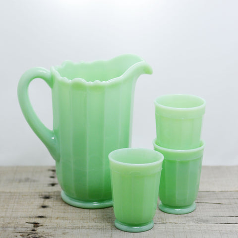 Jadeite Scalloped Pitcher
