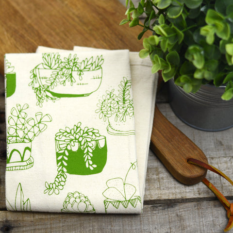 Potted Plants Cotton Flour Sack Towel