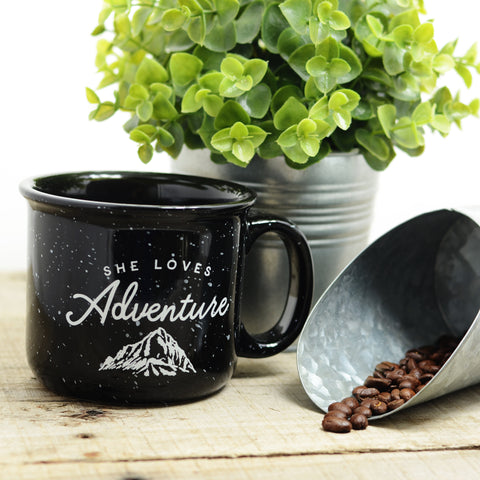She Loves Adventure Ceramic Mug