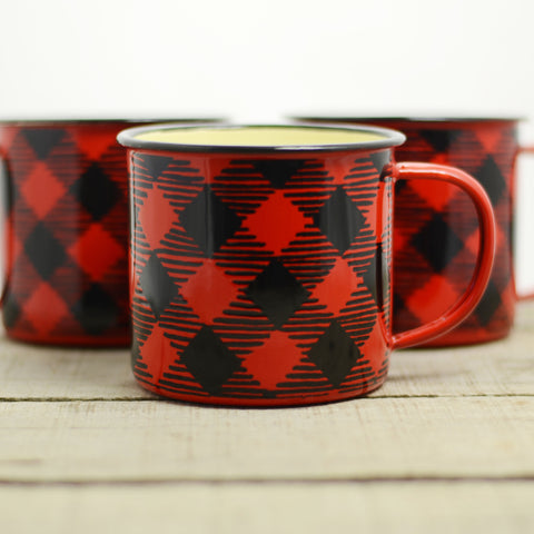 Buffalo Plaid Large Camp Mug