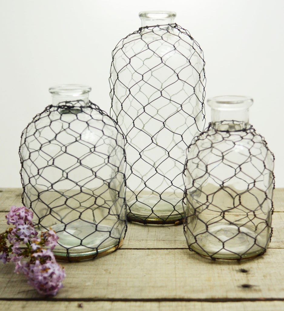 Chicken Wire Vase – Freckled Hen Farmhouse
