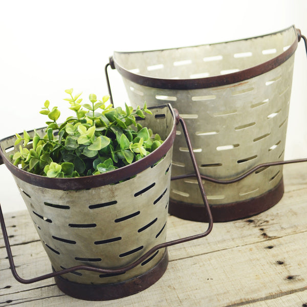 Small Metal Olive Bucket