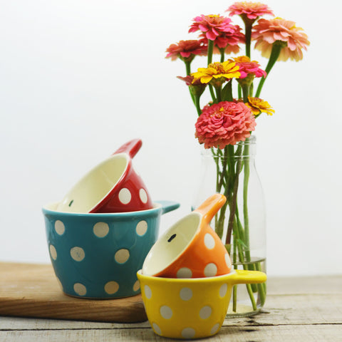 Ceramic Polka Dot Measuring Cups