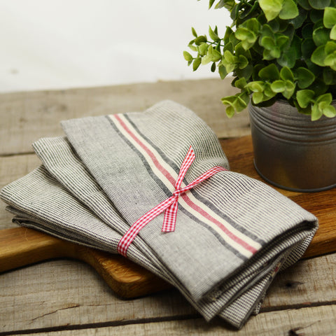 Set of Four Chambray Napkins
