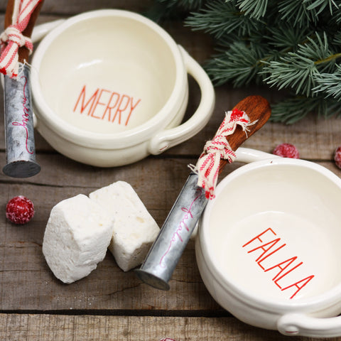 Red & White Holiday Bowl Set