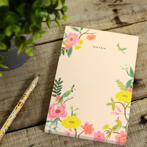 Bird & Florals Notepad
