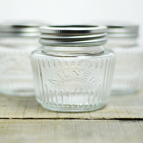Vintage Glass Preserve Jar 8.5 fl oz