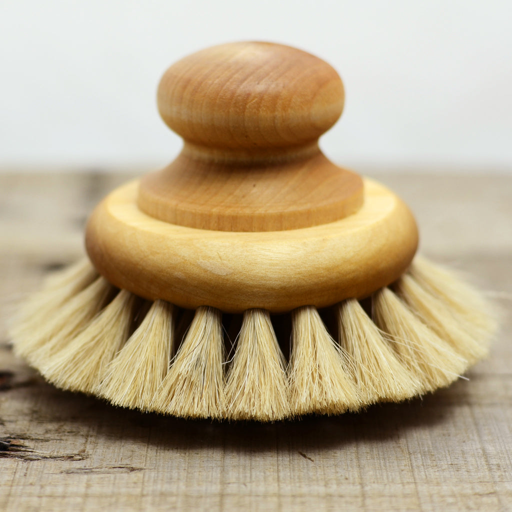 Wooden Bath Brush with Knob