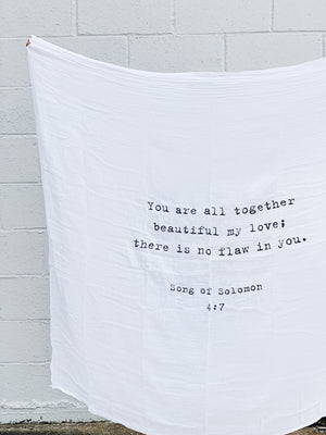 Cotton Quote Swaddle Blanket