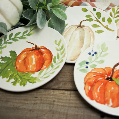Ceramic Pumpkin Plate