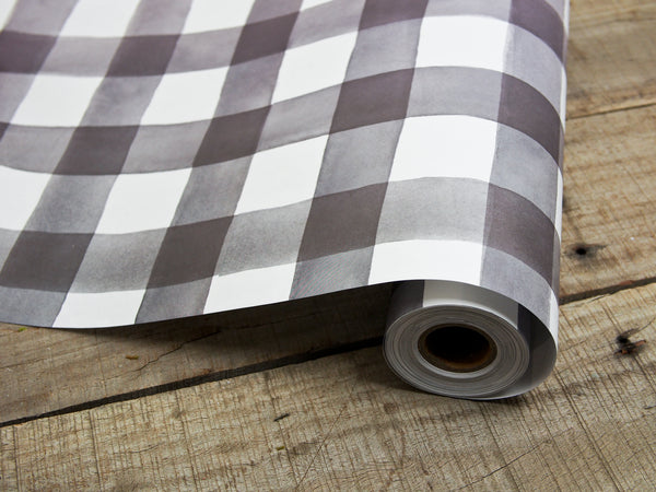 Gingham Paper Table Runner