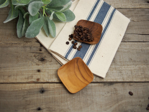 Square Teak Wood Dish