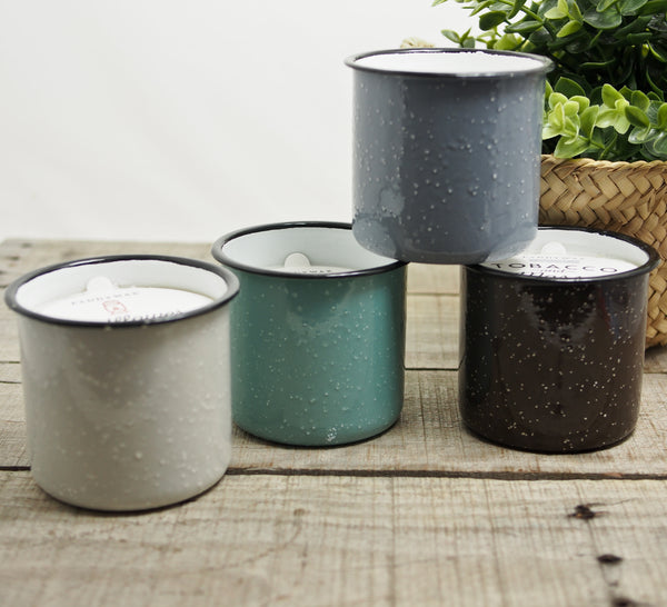 Enamelware Candle