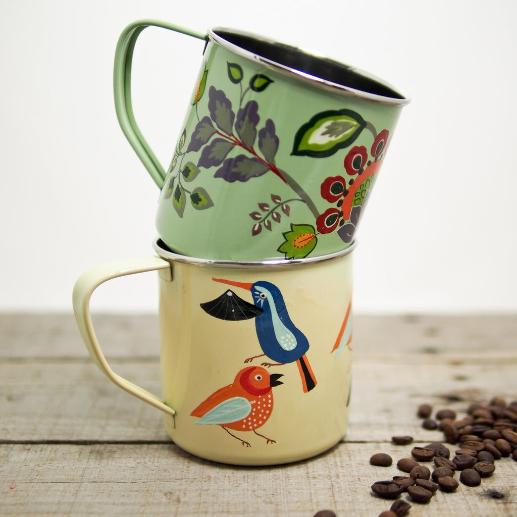 Hand-Painted Stainless Steel Mug