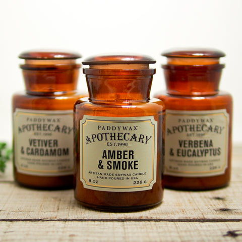 Amber Glass Apothecary Candle