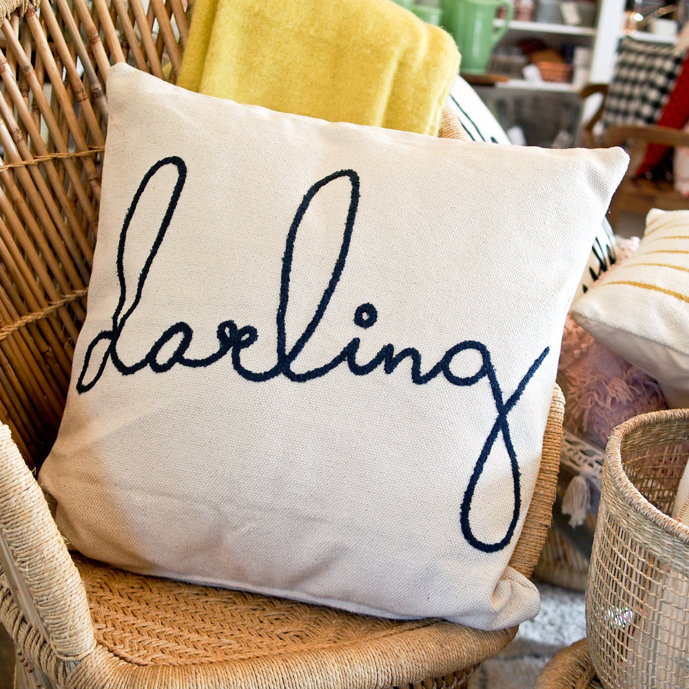 Oversized Embroidered Darling Pillow