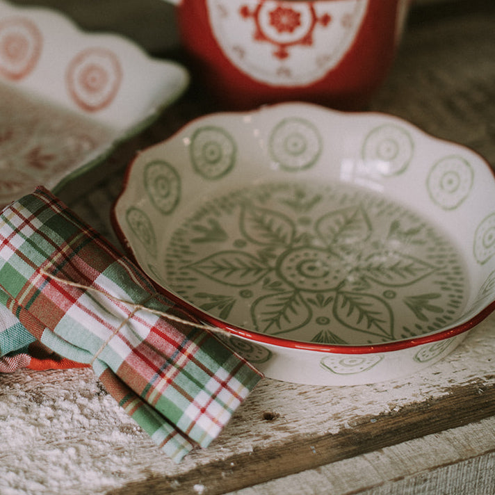 Holiday Ceramic Pie Dish