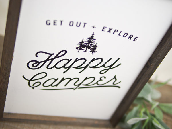 Happy Camper Barn Wood Sign