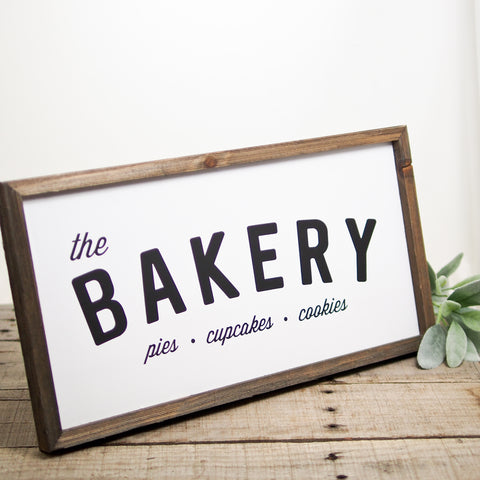 Bakery Barn Wood Sign