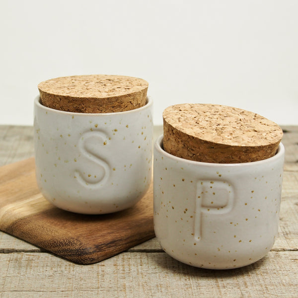 Salt & Pepper Cork Top Jars