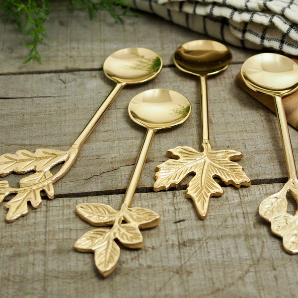 Gold Leaf Serving Spoon