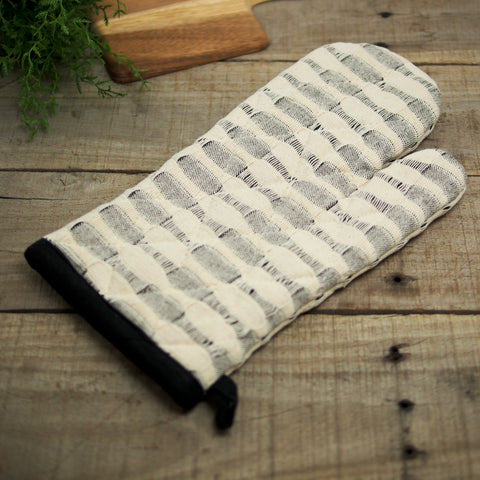 Black and White Oven Mitt