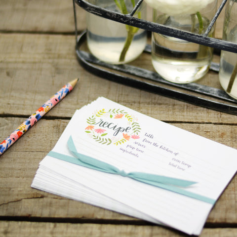 Wildflower Recipe Cards