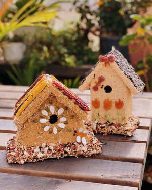 Large Rustic Birdseed House