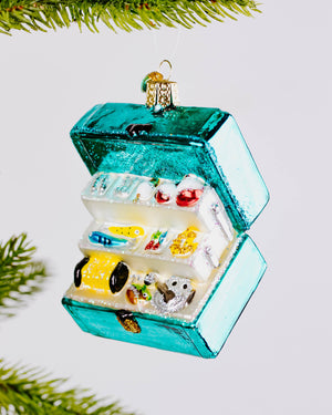 Glass Tackle Box Ornament