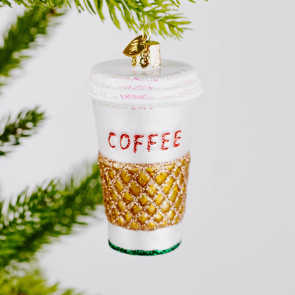 Glass Coffee To-Go Ornament