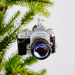 Glass Camera Ornament