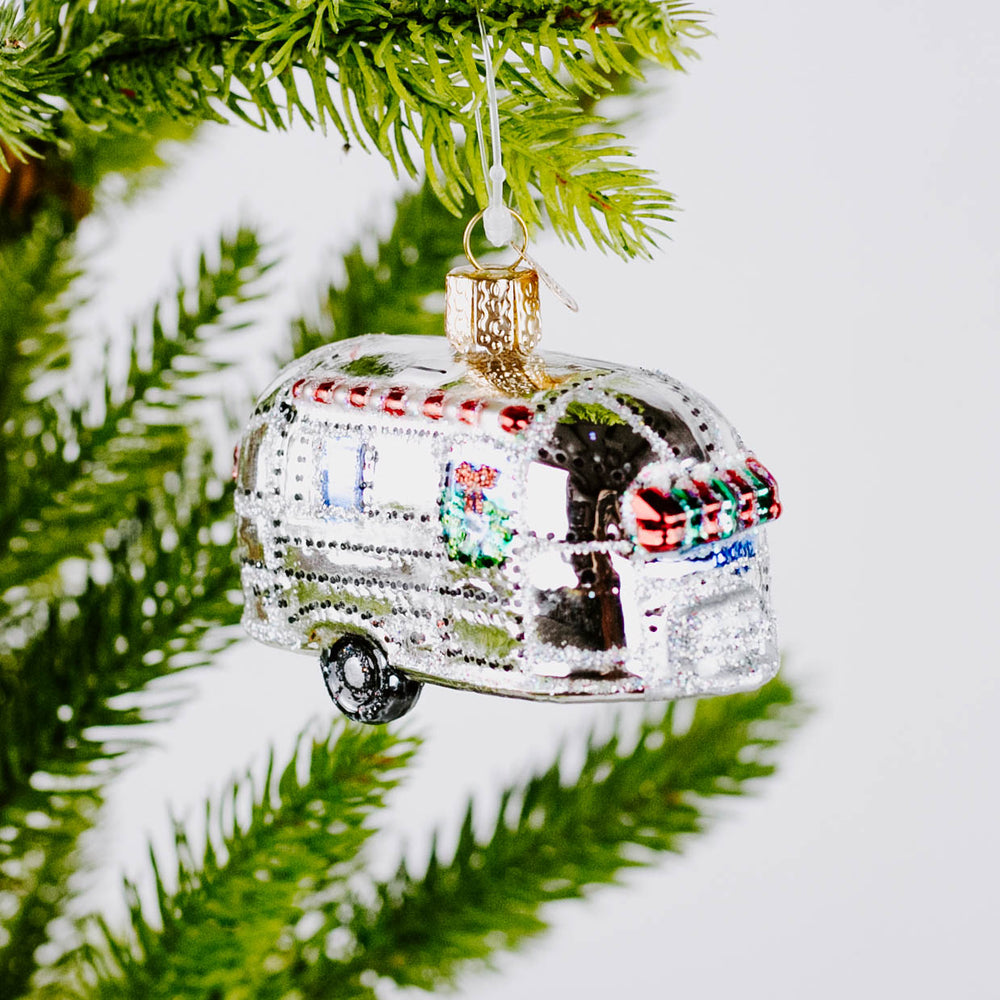 Load image into Gallery viewer, Vintage Travel Trailer Ornament