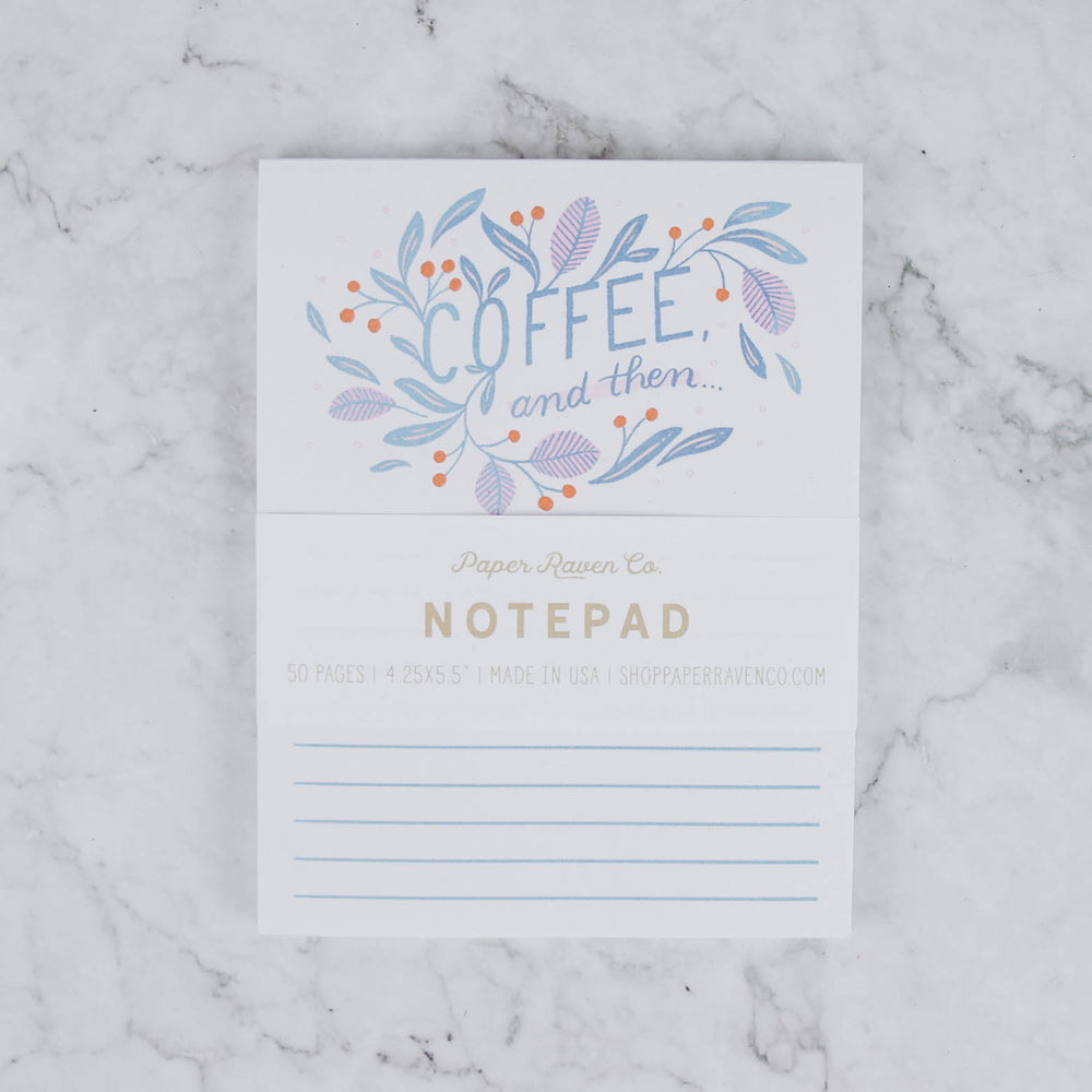 Coffee & Then Notepad